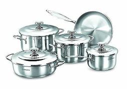 Korkmaz Droppa 9 Piece Stainless Steel Cookware Set