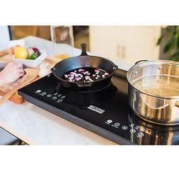 Dual Induction Cooktop Counter Top Burner Electric Surface E