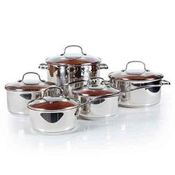 Nuwave Duralon™ Ceramic Non-stick Cookware 10-piece Set wi