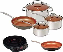 Nuwave Duralon Ceramic Non-Stick 7-Piece Cookware Set with C