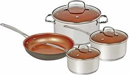 NuWave Duralon Ceramic Nonstick 7-Piece Cookware Set with 12