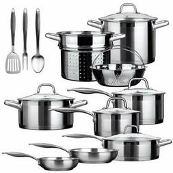 Duxtop Cookware Sets SSIB-17 Professional Piece Stainless St