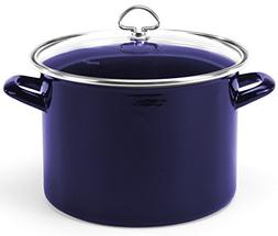 Chantal Enamel-On-Steel 8-Quart Stockpot with Tempered Glass