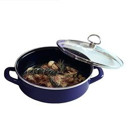 Chantal Enamel-On-Steel 3 Quart Saute & Serve with Tempered