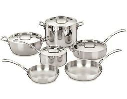 Cuisinart - French Classic 10-piece Cookware Set - Silver