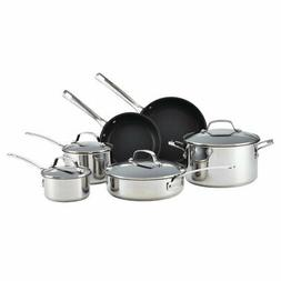 Circulon® Genesis 10-pc. Stainless Steel Nonstick Cookwa