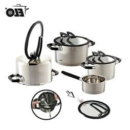 ELO German Black Pearl 7 PC Stainless Steel Cookware Inducti