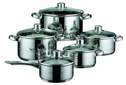 ELO Germany Stainless Steel 10 Piece Kitchen Induction Cookw