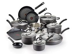 T-fal Hard Anodized Cookware Set, Nonstick Pots and Pans Set