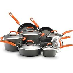 Rachael Ray Hard-anodized Nonstick 14-piece Grey with Orange