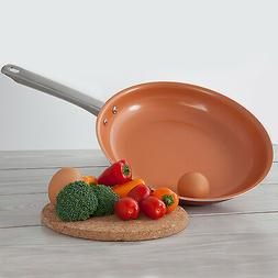 """Healthy Non Stick 10"""" Copper Ceramic Coated Frying Pan Fry P"""