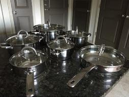 Induction Cookware Set Stainless Steel Cooking Pan and Pots