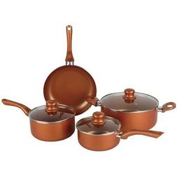 Brentwood BPS-107C 7-Piece Non-Stick Copper Cookware Set