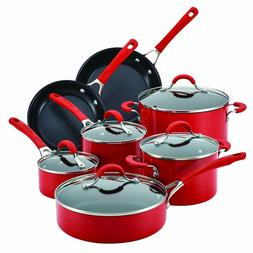 Circulon Innovatum Aluminum 12 - Piece Cookware Set, Red