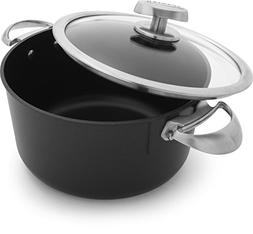 Scanpan PRO IQ Nonstick Covered Dutch Oven, 6.5 quart, Black