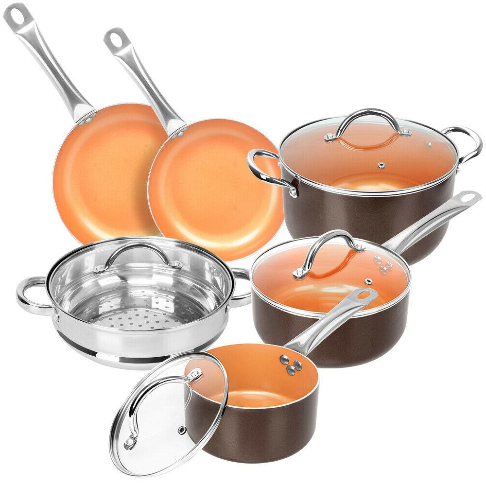10 Pcs Pan Set Chef Steamer