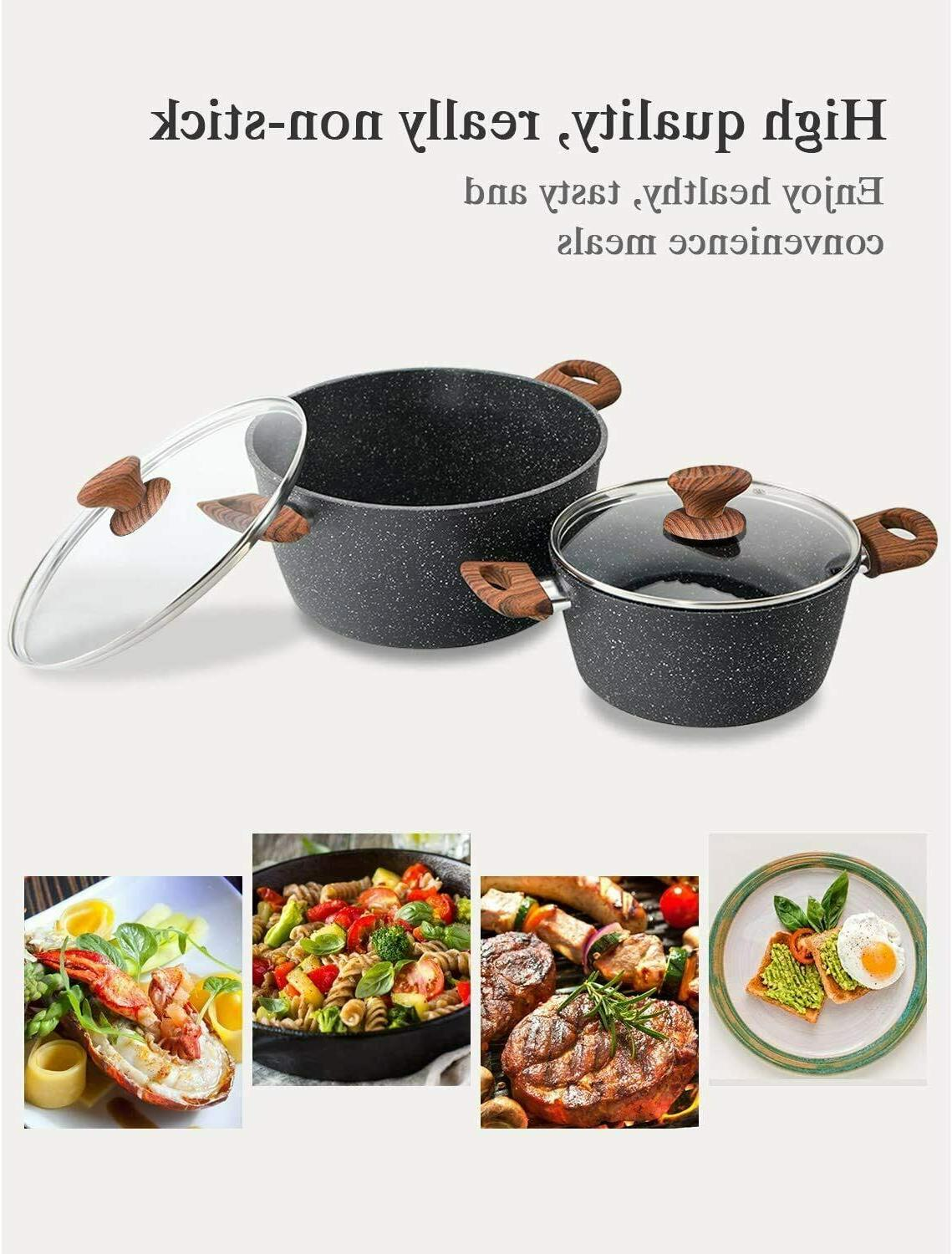 12 Cookware Set Kitchen Pots and