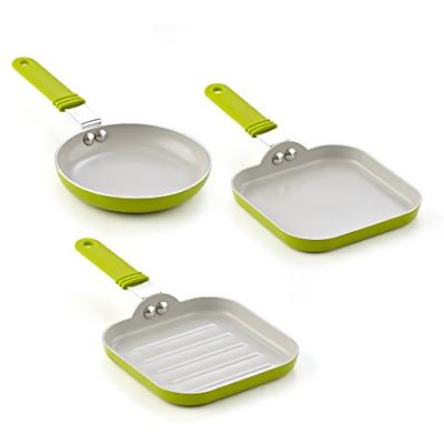 3 pan set ceramic nonstick induction frying