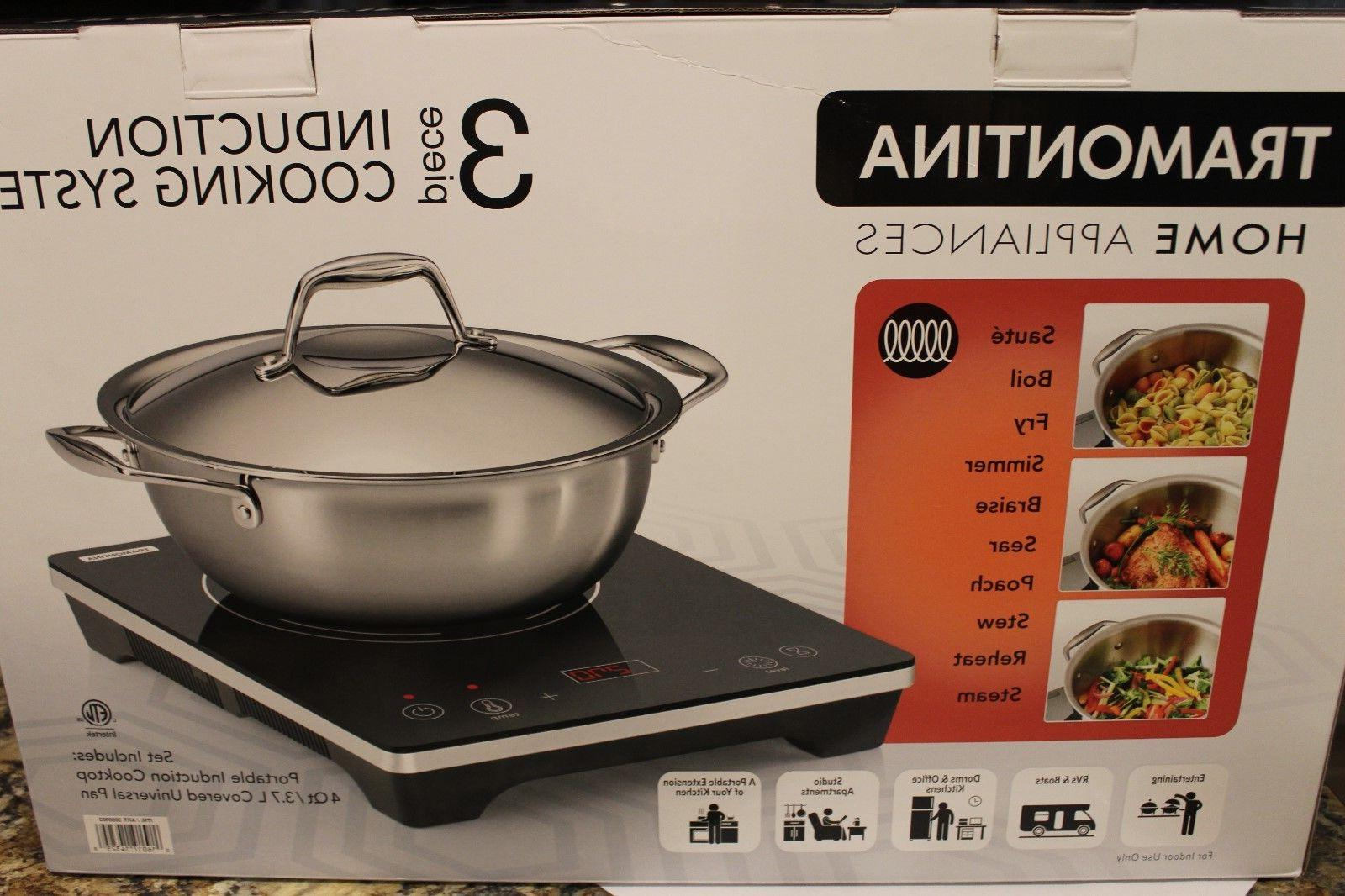 3 piece induction cookware set new in
