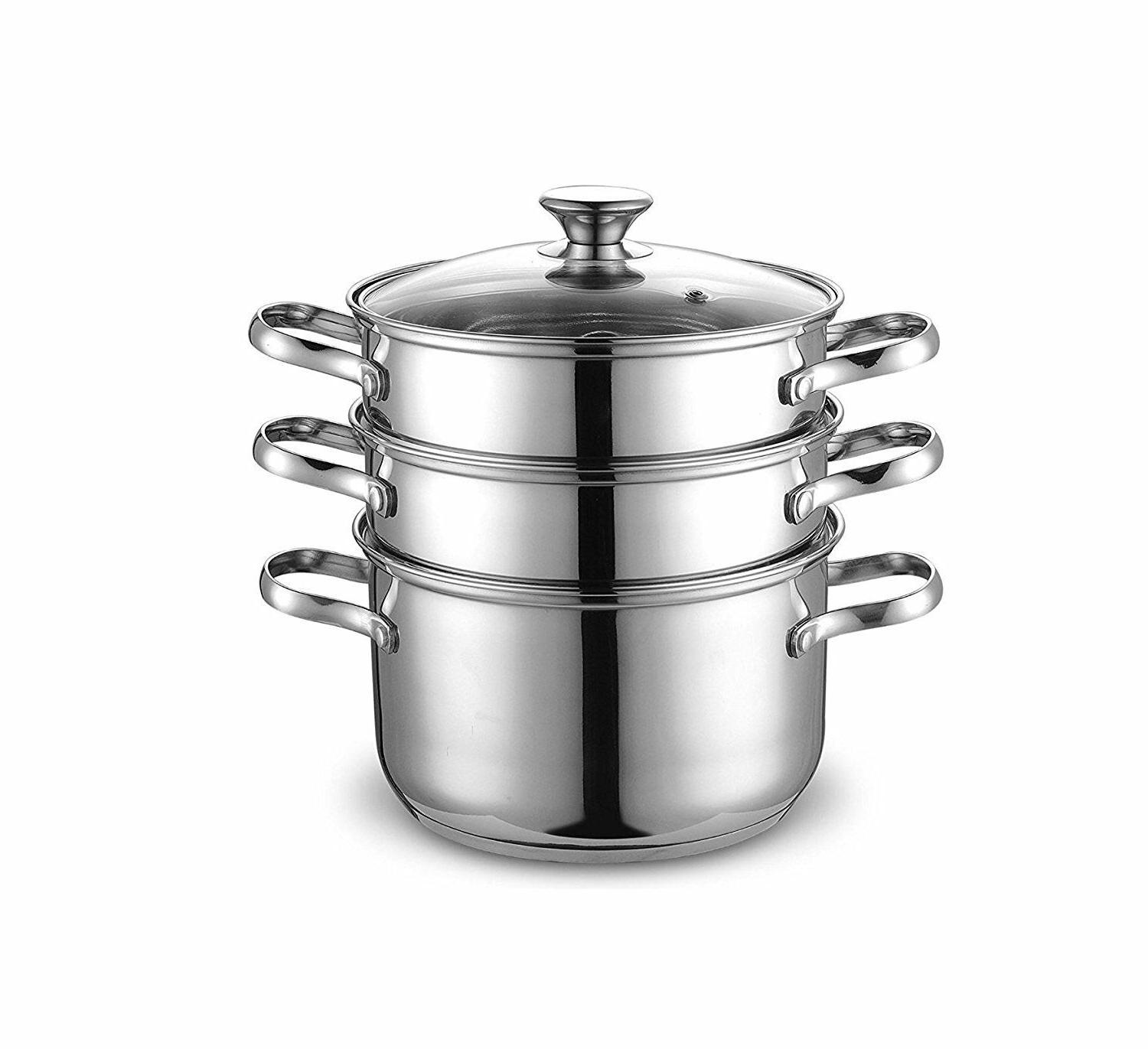 4 quart 8inch double boiler and steamer