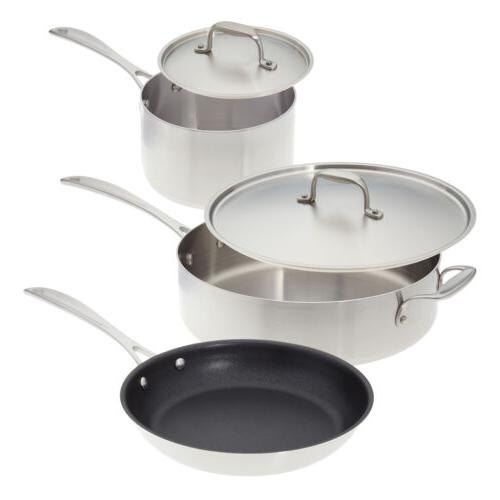 5 piece stainless steel induction cookware made