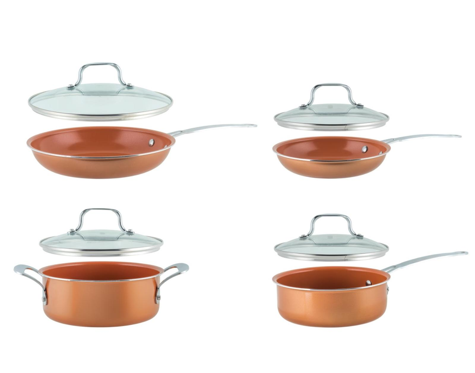 8 Piece Non-Stick Coated Cookware Set
