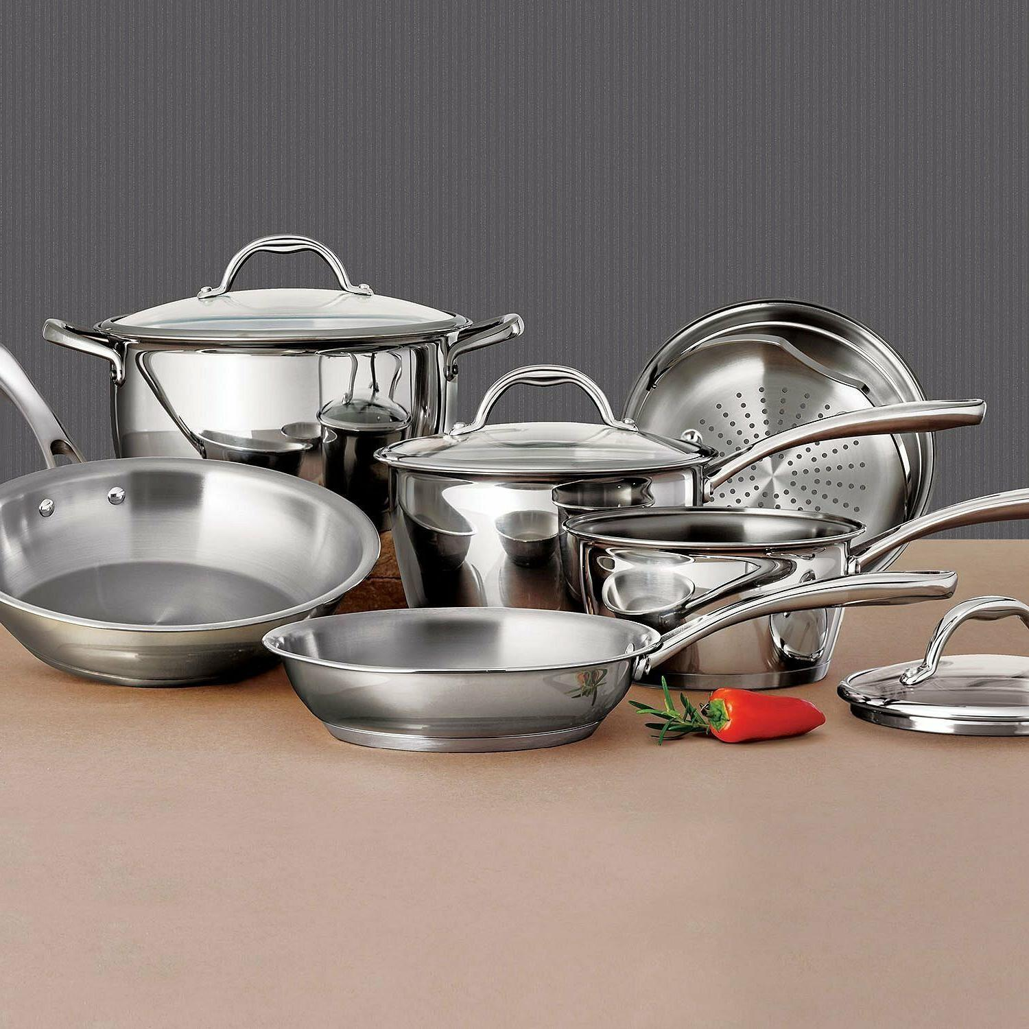 Tramontina Steel Tri-Ply Base Cookware Set