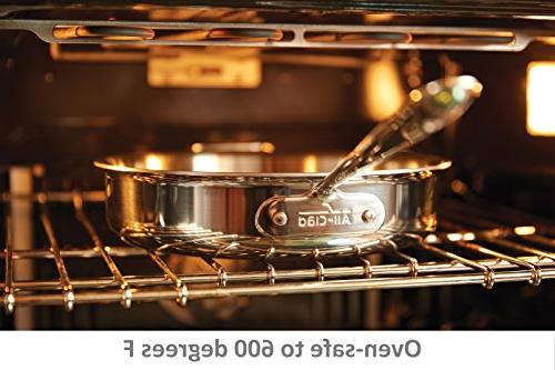 All-Clad D3 Tri-Ply Cookware Set, Pans Dishwasher Stainless Silver