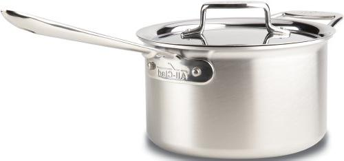 All-Clad Nonstick d5 stainless 4 Quart sauce pan with Loop a