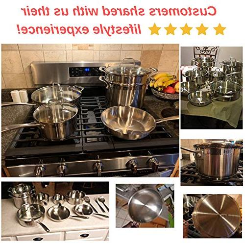 Chef's Star Pots and Piece - Non stick Oven Safe Impact-bonded -