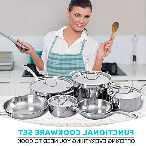 Steel Ready Cookware 10-Pc