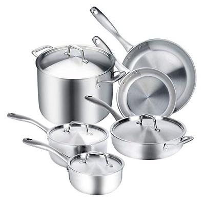 Duxtop Whole-Clad Tri-Ply Stainless Steel Induction Ready Pr