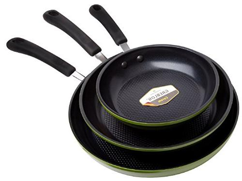 Green 3-Piece by , Textured Non-Stick from Germany