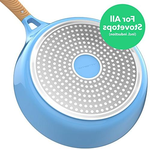 Vremi Piece Nonstick Induction Stovetop Dishwasher Safe Pots and Frying Lids Pot Pan PFOA Free