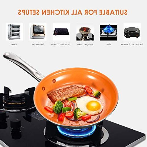 Cookware Set, Non Induction Copper and Pans Set with Induction Oven Safe