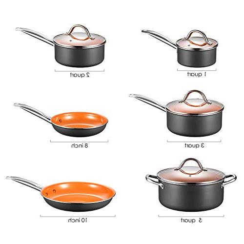 Cookware Non Cookware, Copper Pots Pans Set Induction Bottom, Dishwasher Oven
