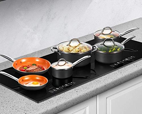 Cookware 10-Piece Non Stick Copper and Set Induction Bottom, Oven