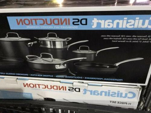 ds induction hard anodized 11 piece cookware