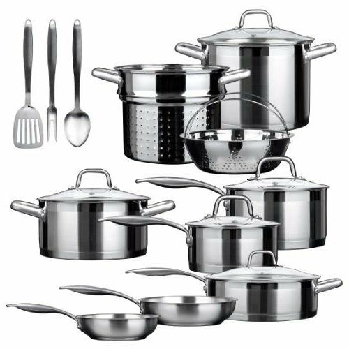 duxtop professional stainless steel 17 piece induction