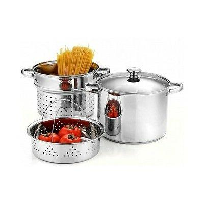 induction ready pasta cooker steamer 8 quart