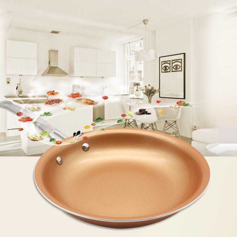 Non Stick Copper Pan Skillet Induction Coating Chef Fry