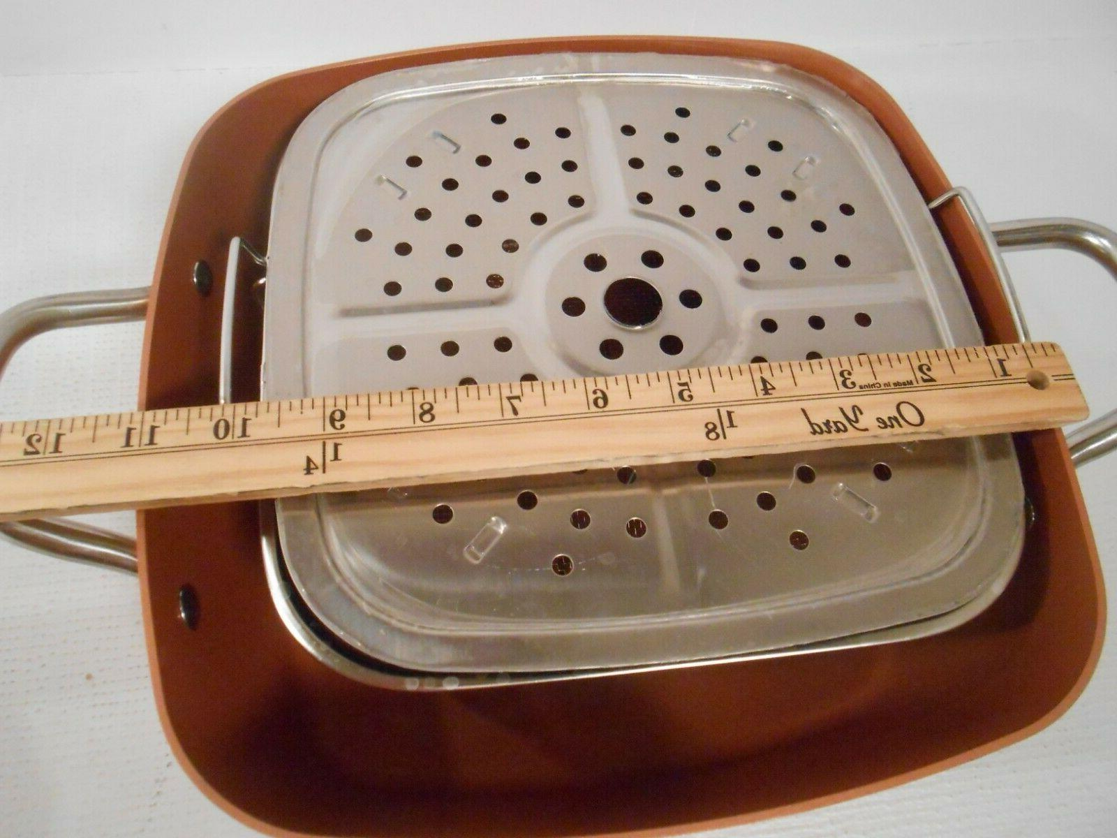Non-Stick Copper 4 Square Pan Set - and Fry