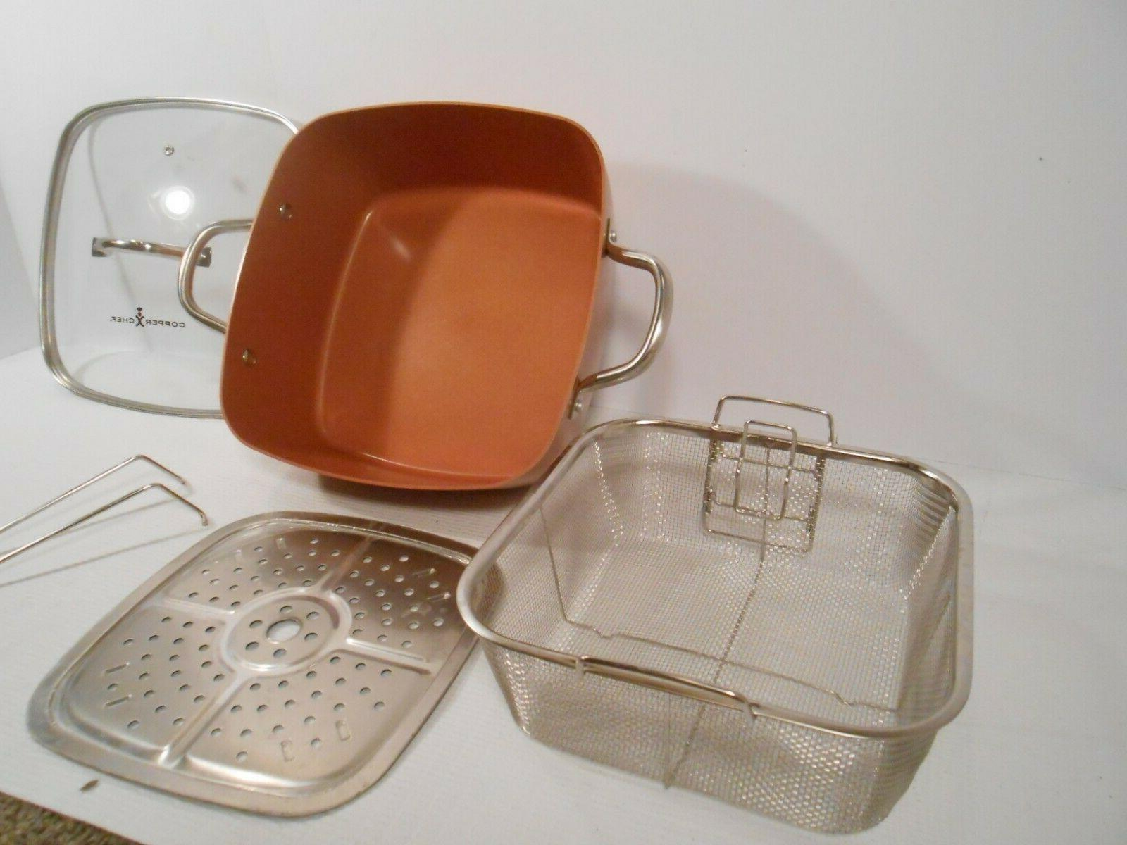 """4 Piece 9.5"""" Square Pan Set - and"""