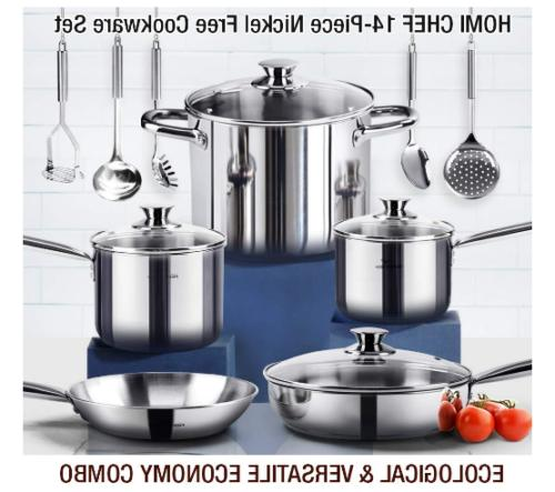 Non-Toxic Cookware Stainless Induction Cookware