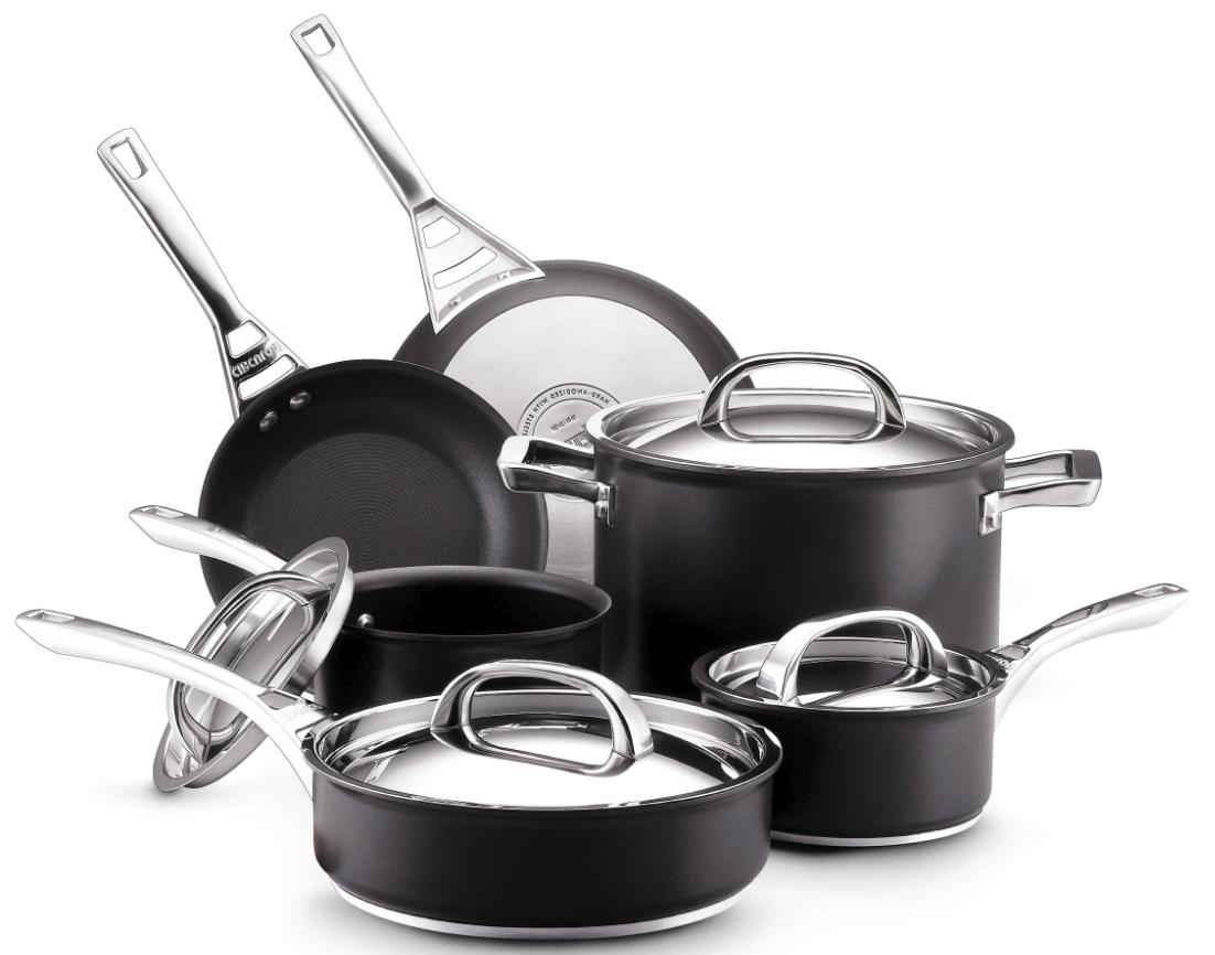 Circulon Nonstick Cookware Set Induction Safe Black Hard Ano