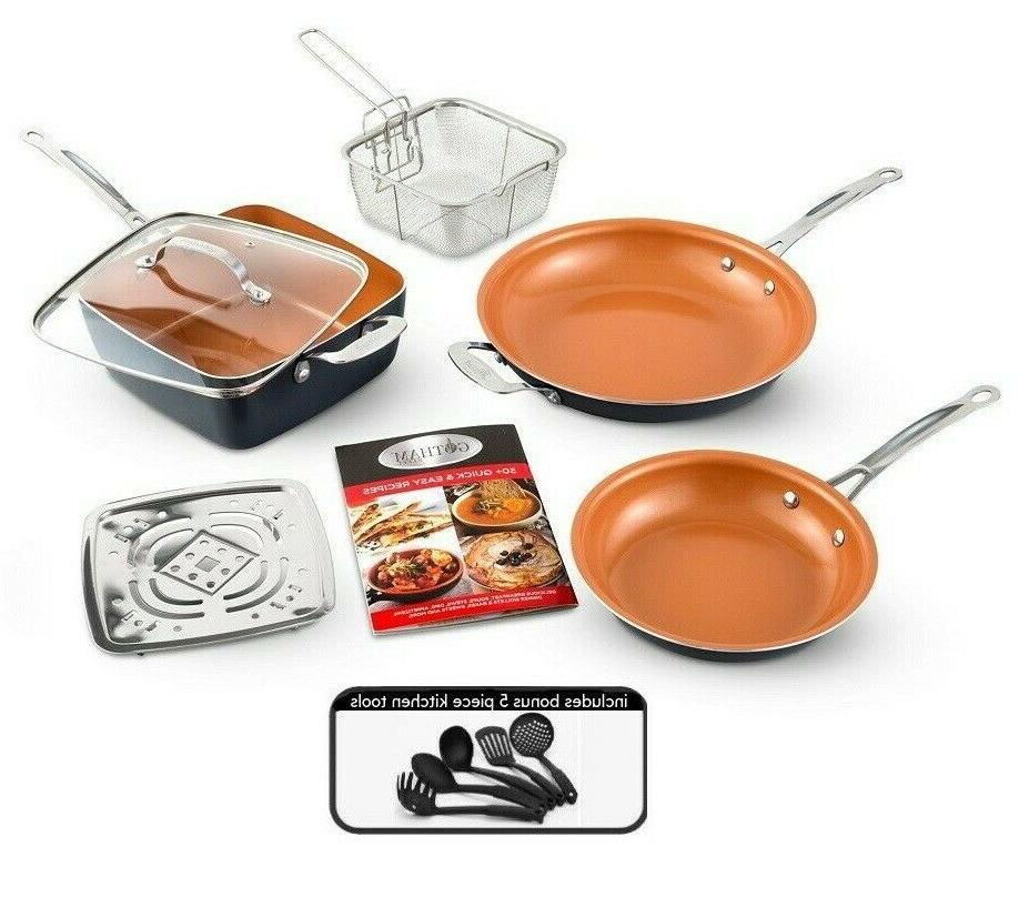 nonstick pantastic 7 piece complete kitchen cookware