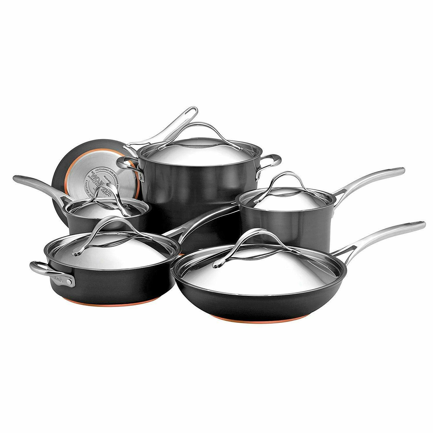 nouvelle copper hard anodized nonstick cookware set