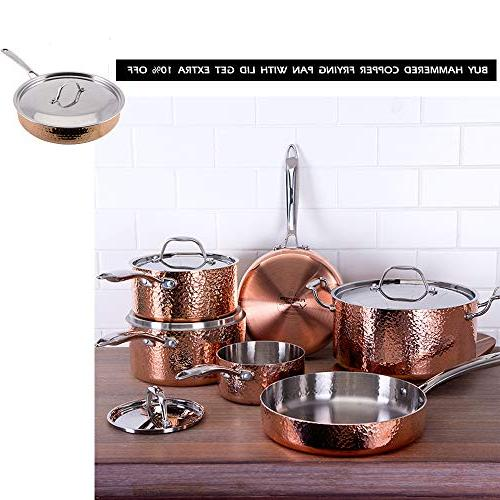 Oprah Things Fleischer Wolf Set - Tri-ply Hammered Stainless Grill Kitchen Pots and Set