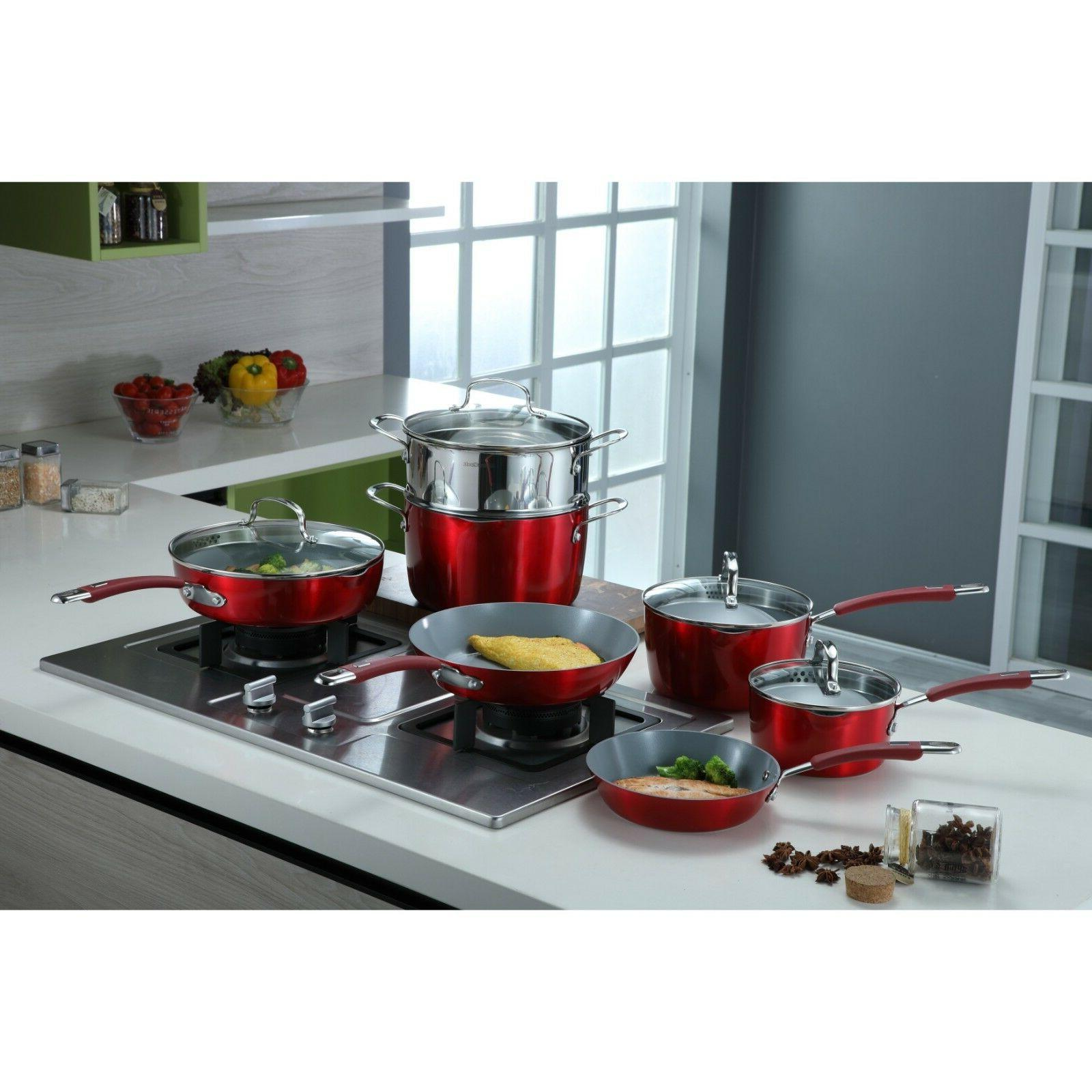 passion aluminum ceramic nonstick 14 piece cookware