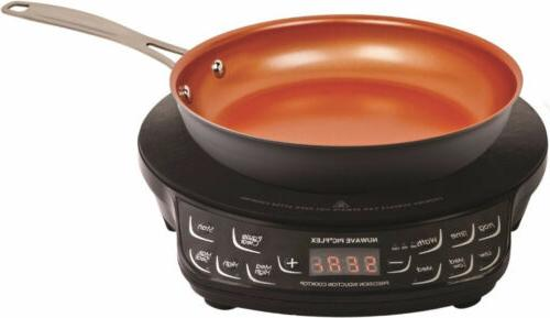 """NuWave PIC Flex Precision Induction Cooktop with 9"""" Hard Ano"""